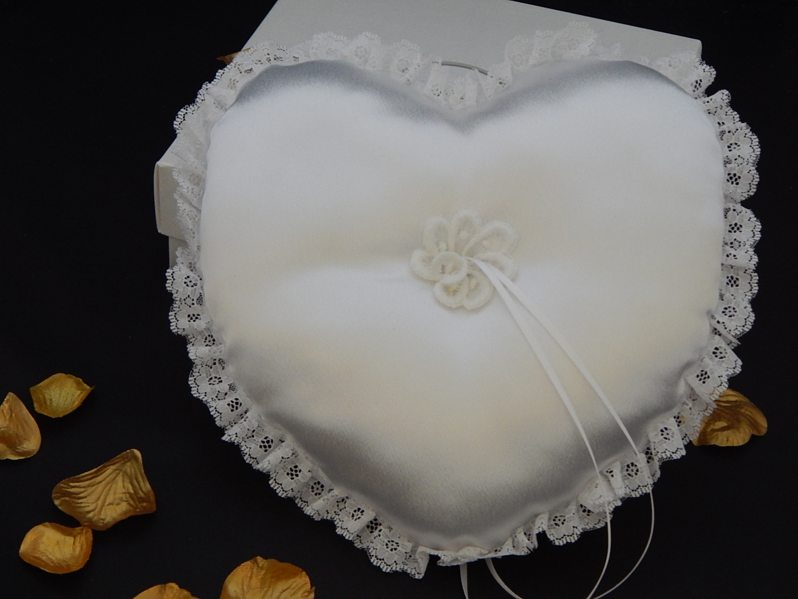 Handcrafted Heart Shaped wedding Ring Cushion