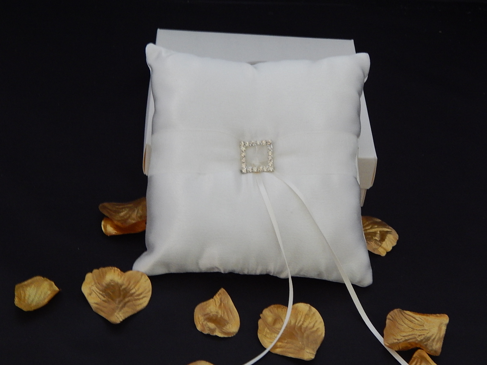 Handcrafted Diamante Buckle Wedding Ring Cushion