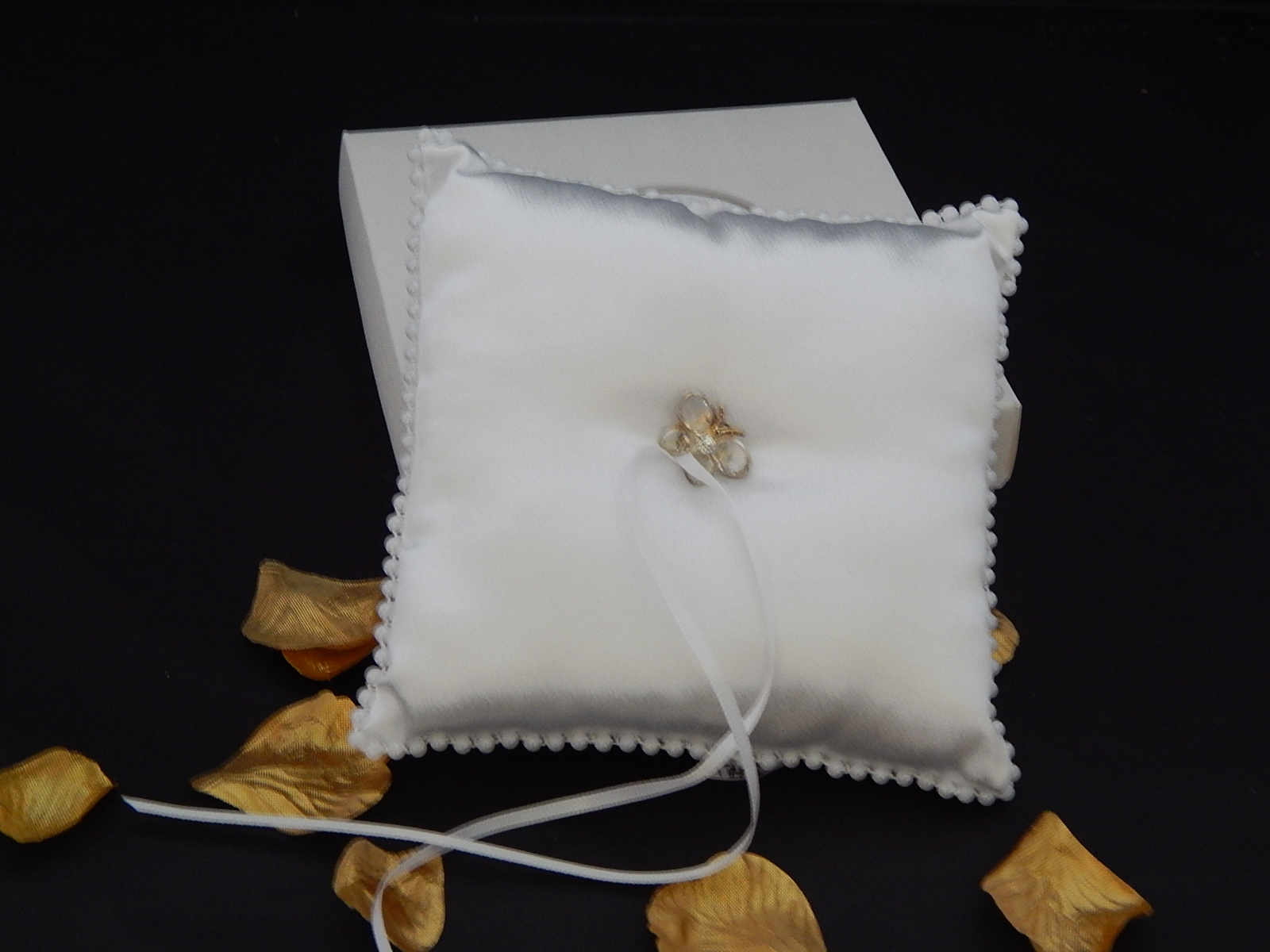 Handcrafted Glass Butterfly Wedding Ring Cushion