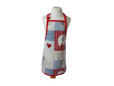 Kid's wipeable apron - elephant design