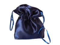Navy satin posy bag