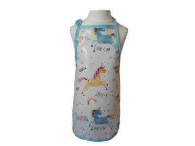 kid's unicorn oilcloth apron