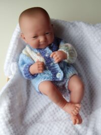 Premature baby random blue cardigan