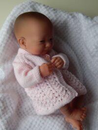 Premature baby matinee cardigan