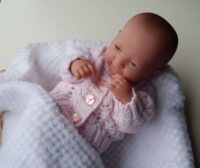 premature baby pink lacey cardigan