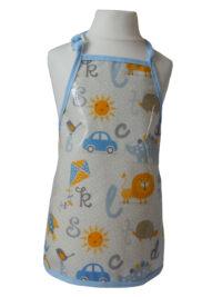 Child's Alpha oilcloth apron