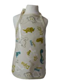 Babies' dinobabies oilcloth apron