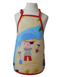 Child's pirate oilcloth apron