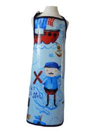 Kid's pirate oilcloth apron