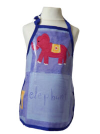Kid's elephant oilcloth apron