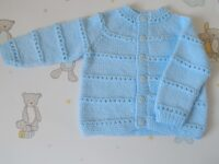 baby's cardigan in blue