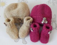 baby hat & boots set