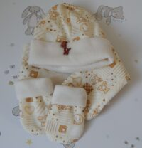 Baby hat mittens and scarf