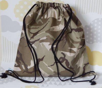 backpack style showerproof bag camouflage