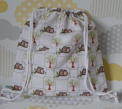 backpack style showerproof bag comic owls