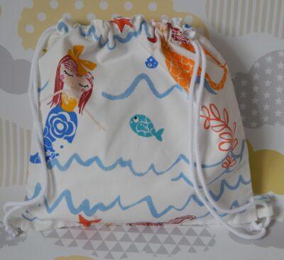 backpack style showerproof bag mermaids