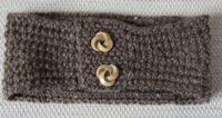 handknitted brown earwarmers