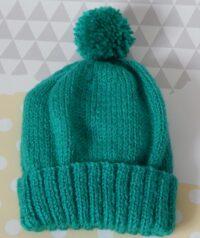 child's pom pom hat