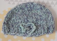 handknitted girls chunky hat