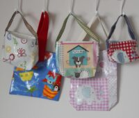 kid's oilcloth bags group