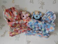 red and blue baby gifts sets