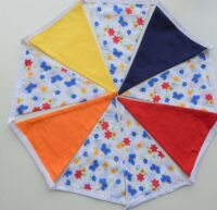 Fabric bunting banner